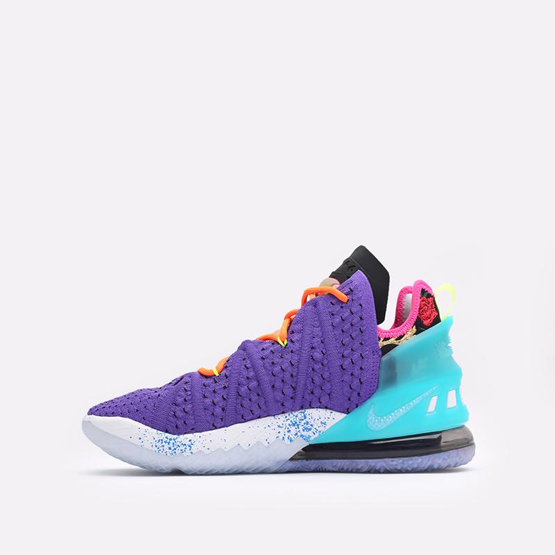 фиолетовые баскетбольные кроссовки Nike LeBron XVIII DM2813-500 - цена, описание, фото 2