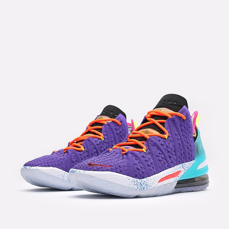 фиолетовые баскетбольные кроссовки Nike LeBron XVIII DM2813-500 - цена, описание, фото 4