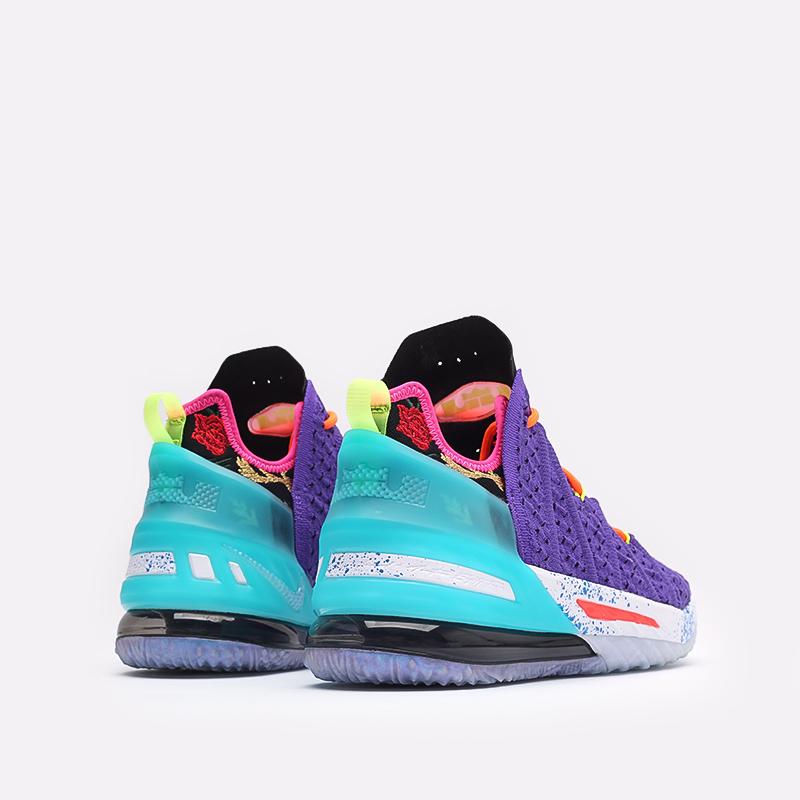 фиолетовые баскетбольные кроссовки Nike LeBron XVIII DM2813-500 - цена, описание, фото 3