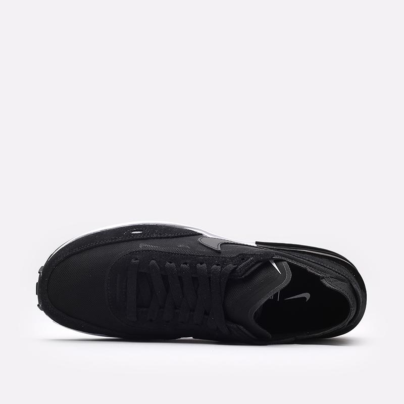 мужские чёрные  кроссовки nike waffle one DA7995-001 - цена, описание, фото 6
