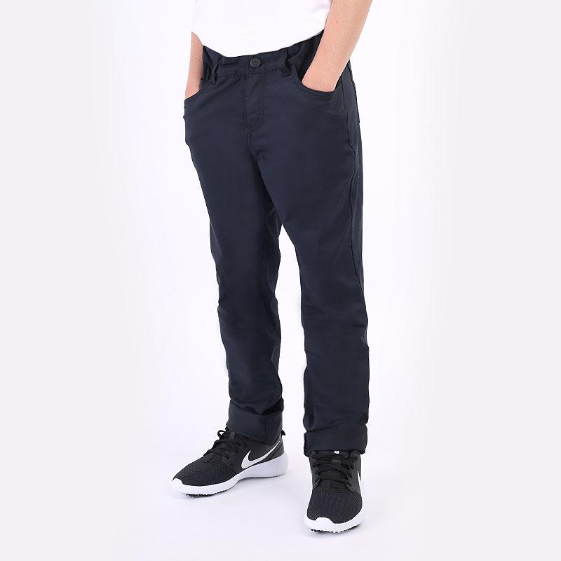 детские синие  брюки nike dri-fit big kids' 5-pocket golf pants CU9879-010 - цена, описание, фото 1