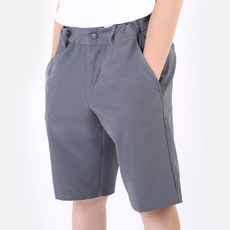 детские серые  шорты  nike older kids' golf shorts CU9880-021 - цена, описание, фото 1