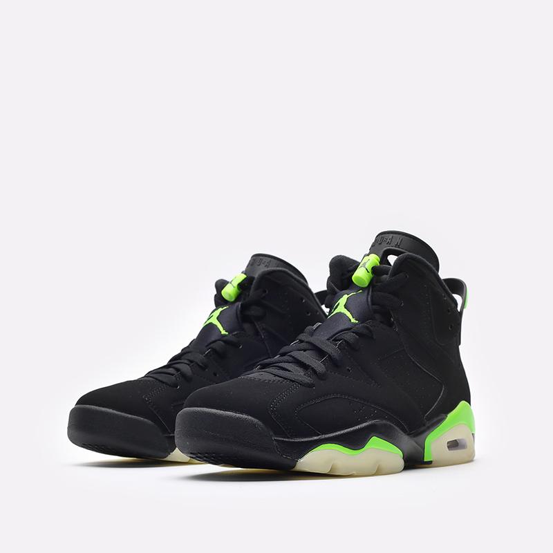 мужские чёрные  кроссовки jordan 6 retro CT8529-003 - цена, описание, фото 4