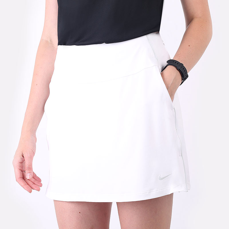 женская белая юбка Nike Dri-FIT UV Victory Women's Golf Skirt CU9657-100 - цена, описание, фото 1