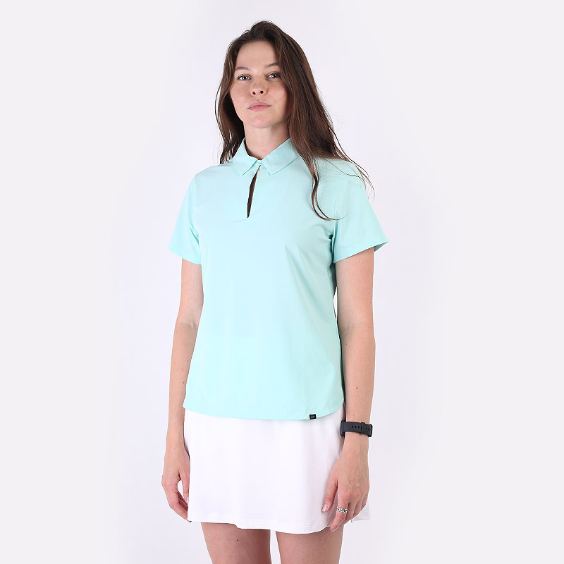 женский голубой  поло newera flex ace women's golf polo CU9349-382 - цена, описание, фото 1