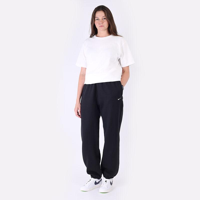 женские черные  брюки nike womens nrg soloswoosh fleece pant CW5565-010 - цена, описание, фото 7