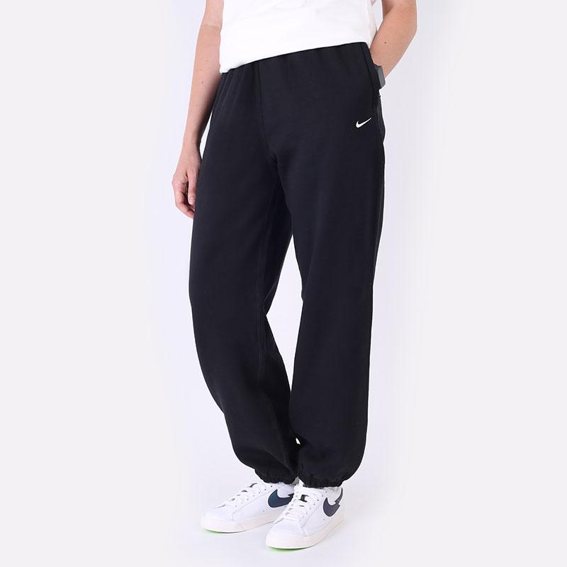 женские черные  брюки nike womens nrg soloswoosh fleece pant CW5565-010 - цена, описание, фото 1