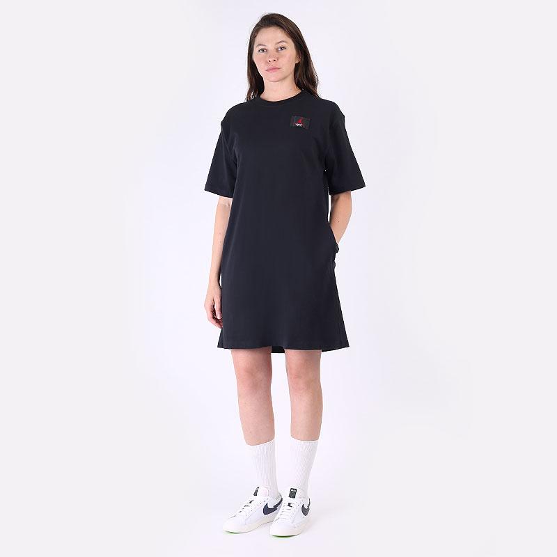 женское черное платье Nike Essential Dress DC2162-010 - цена, описание, фото 1