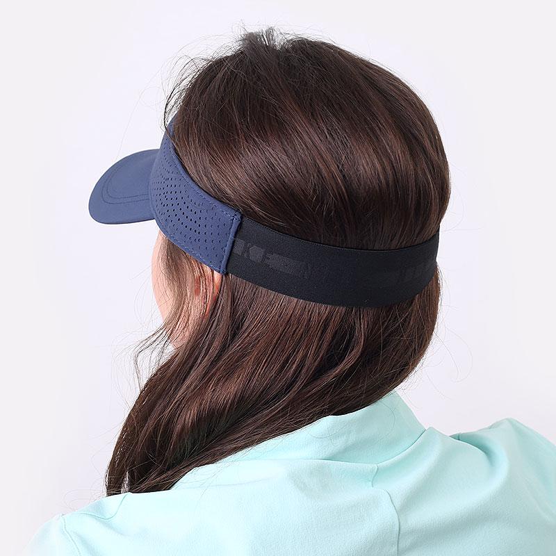 женский синий  козырек nike women's aerobill golf visor BV1080-451 - цена, описание, фото 2
