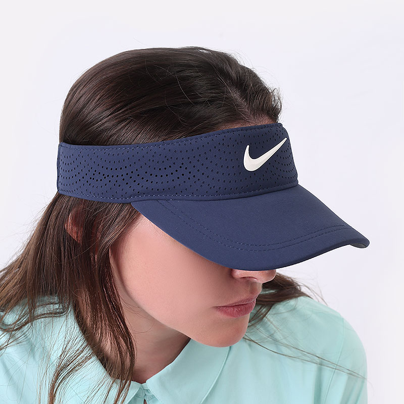 женский синий  козырек nike women's aerobill golf visor BV1080-451 - цена, описание, фото 1