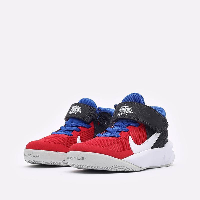 детские синие баскетбольные кроссовки Nike Team Hustle D 10 Flyease (PS) DD7302-005 - цена, описание, фото 4