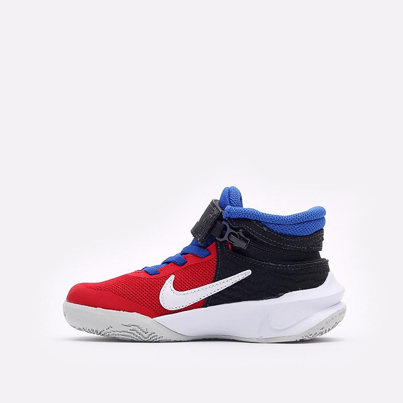 детские синие баскетбольные кроссовки Nike Team Hustle D 10 Flyease (PS) DD7302-005 - цена, описание, фото 2
