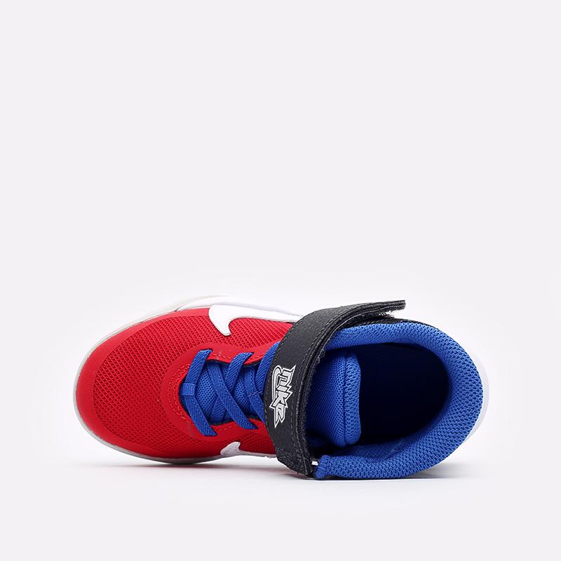 детские синие баскетбольные кроссовки Nike Team Hustle D 10 Flyease (PS) DD7302-005 - цена, описание, фото 6