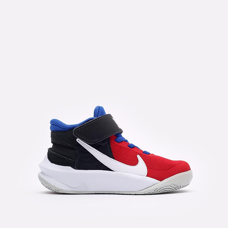 детские синие баскетбольные кроссовки Nike Team Hustle D 10 Flyease (PS) DD7302-005 - цена, описание, фото 1