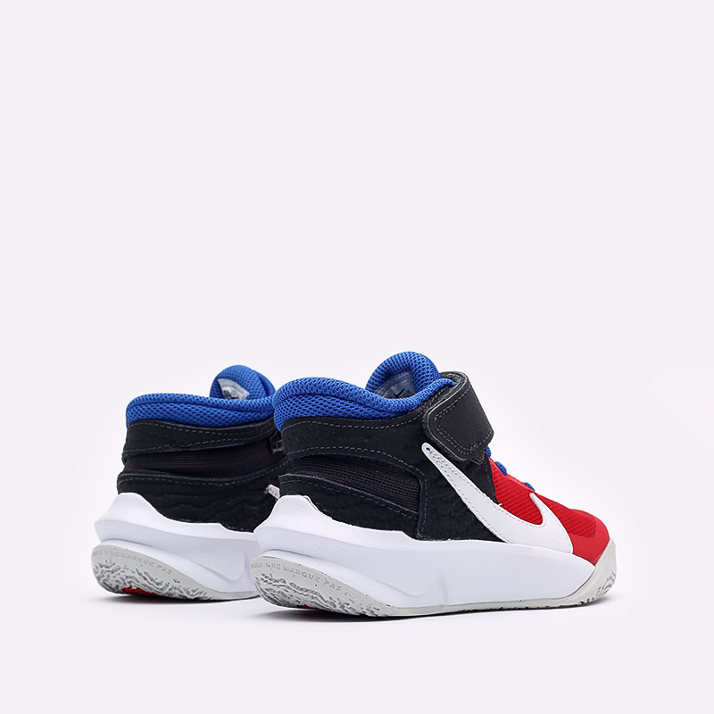 детские синие баскетбольные кроссовки Nike Team Hustle D 10 Flyease (PS) DD7302-005 - цена, описание, фото 3
