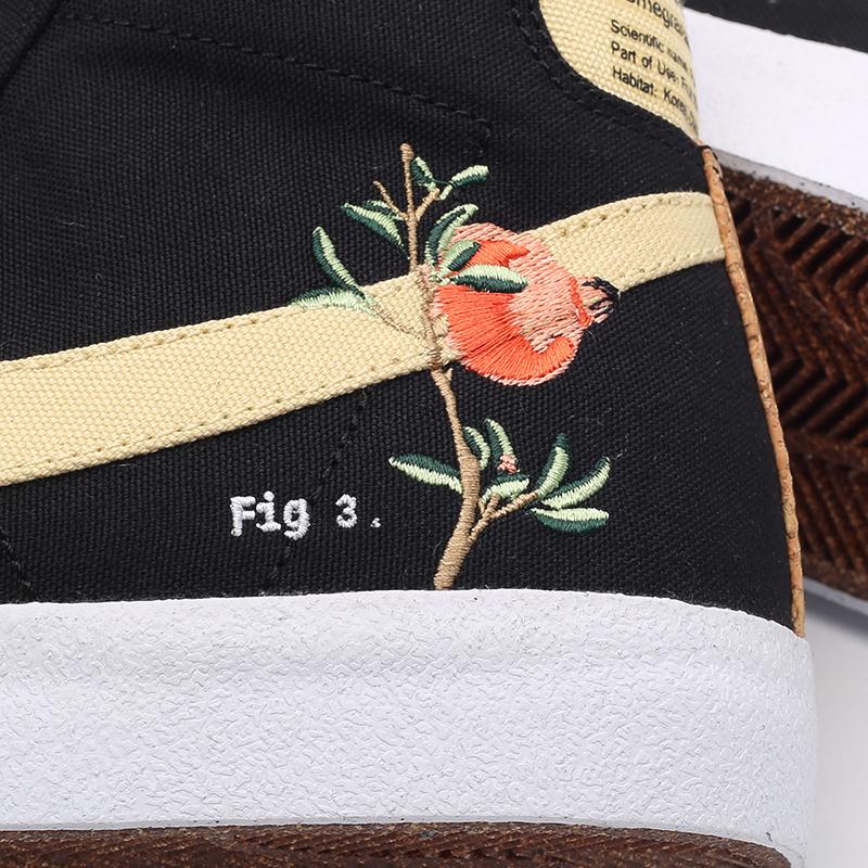 мужские чёрные  кроссовки nike blazer mid '77 CI1166-001 - цена, описание, фото 6