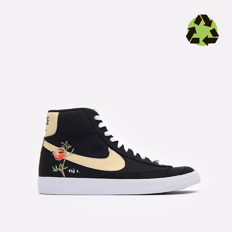 мужские чёрные  кроссовки nike blazer mid '77 CI1166-001 - цена, описание, фото 1