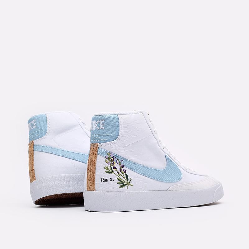 мужские белые кроссовки Nike Blazer Mid '77 CI1166-100 - цена, описание, фото 3