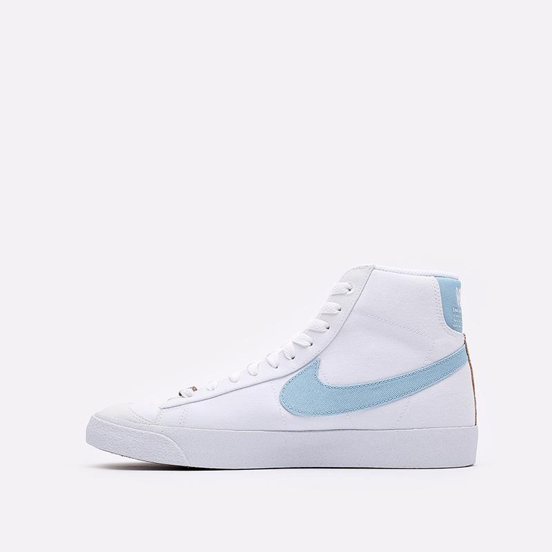 мужские белые кроссовки Nike Blazer Mid '77 CI1166-100 - цена, описание, фото 2