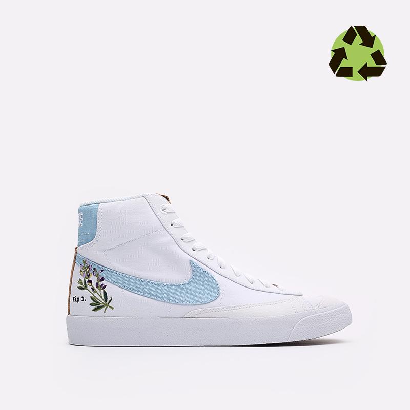 мужские белые кроссовки Nike Blazer Mid '77 CI1166-100 - цена, описание, фото 1