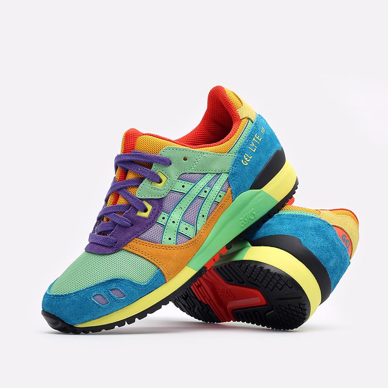 разноцветные кроссовки ASICS Gel-Lyte III OG 1201A429-300 - цена, описание, фото 7