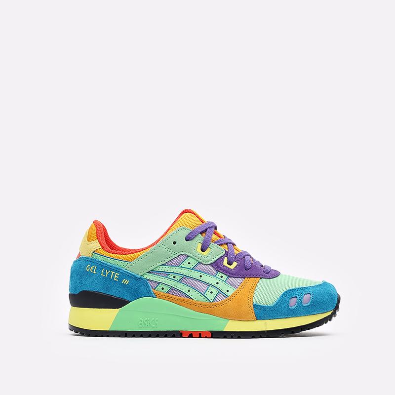 разноцветные кроссовки ASICS Gel-Lyte III OG 1201A429-300 - цена, описание, фото 1