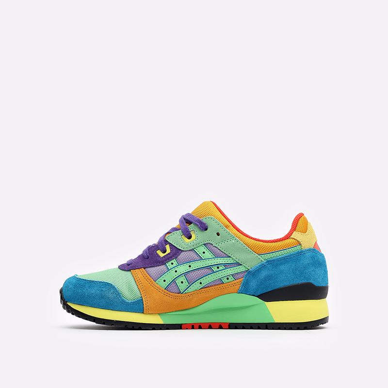 разноцветные кроссовки ASICS Gel-Lyte III OG 1201A429-300 - цена, описание, фото 2
