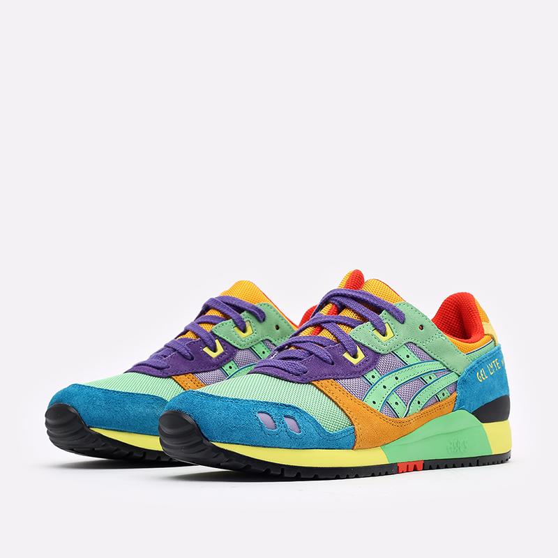 разноцветные кроссовки ASICS Gel-Lyte III OG 1201A429-300 - цена, описание, фото 4