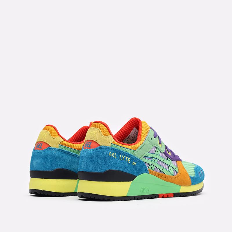 разноцветные кроссовки ASICS Gel-Lyte III OG 1201A429-300 - цена, описание, фото 3