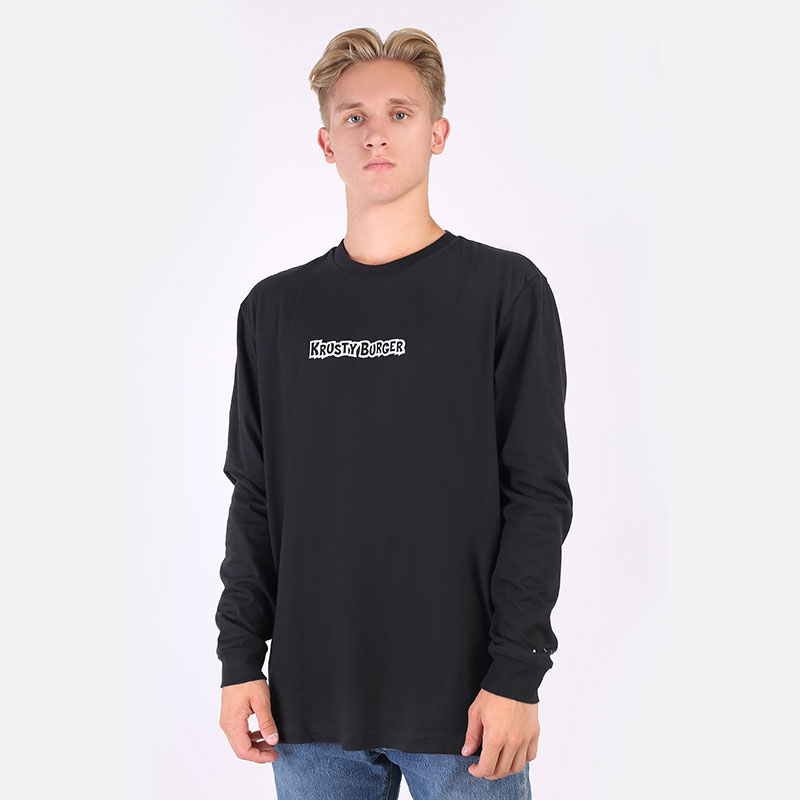 мужской черный  лонгслив adidas smps kb ls tee HA5819 - цена, описание, фото 1