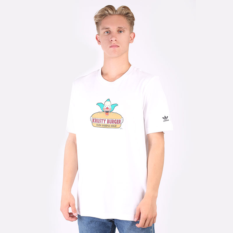 мужскую белую  футболка adidas smps kb tee HA5821 - цена, описание, фото 1