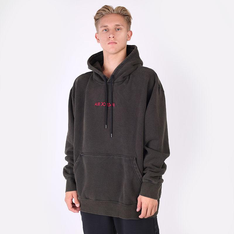 мужскую коричневую  толстовка jordan aj5 graphic fleece pullover hoodie DD5261-010 - цена, описание, фото 1