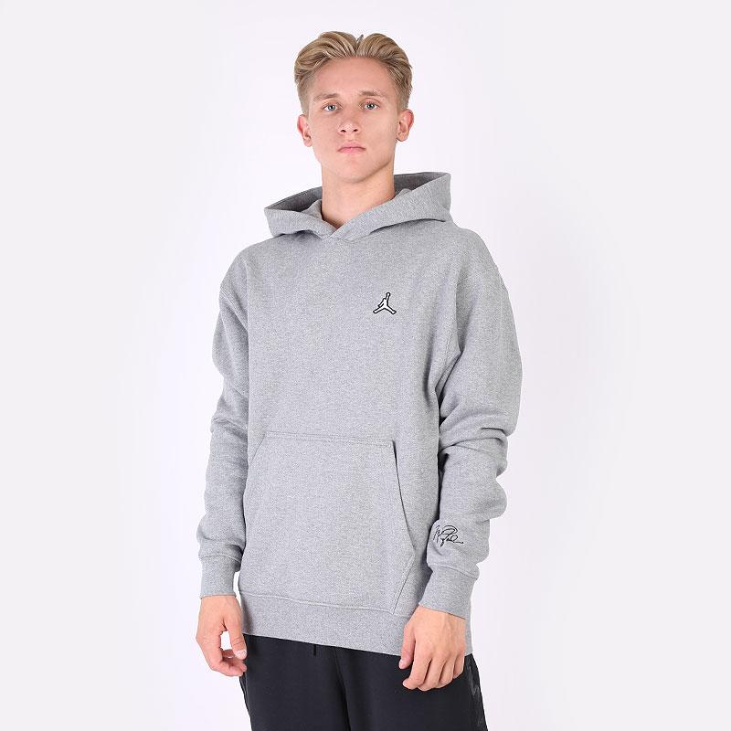 мужскую серую  толстовка jordan essentials fleece pullover hoodie DA9818-091 - цена, описание, фото 1