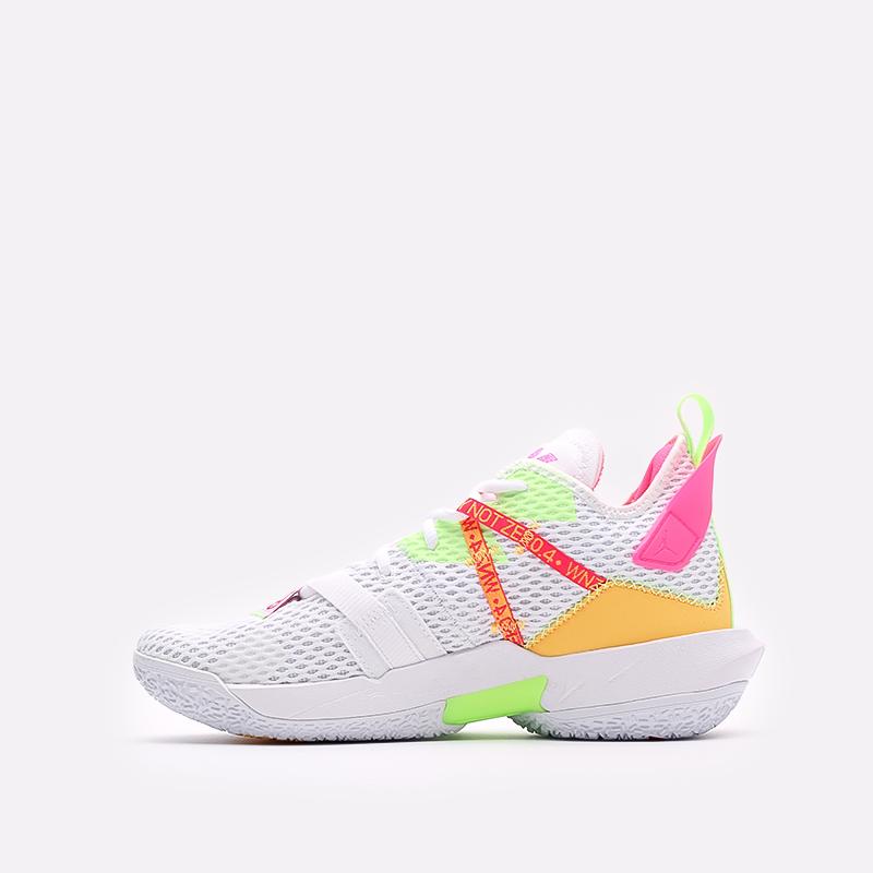 мужские белые  кроссовки jordan why not zero.4 CQ4230-102 - цена, описание, фото 2