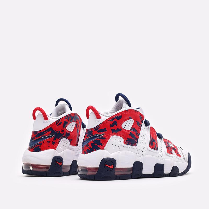 женские белые, красные  кроссовки nike air more uptempo (gs) CZ7885-100 - цена, описание, фото 3