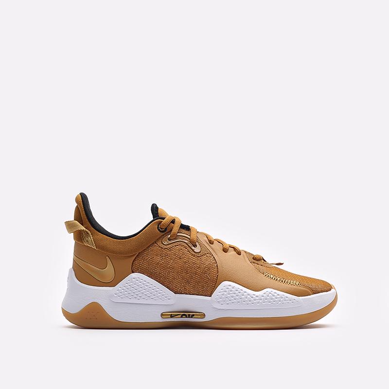 коричневые баскетбольные кроссовки Nike PG 5 CW3143-700 - цена, описание, фото 1