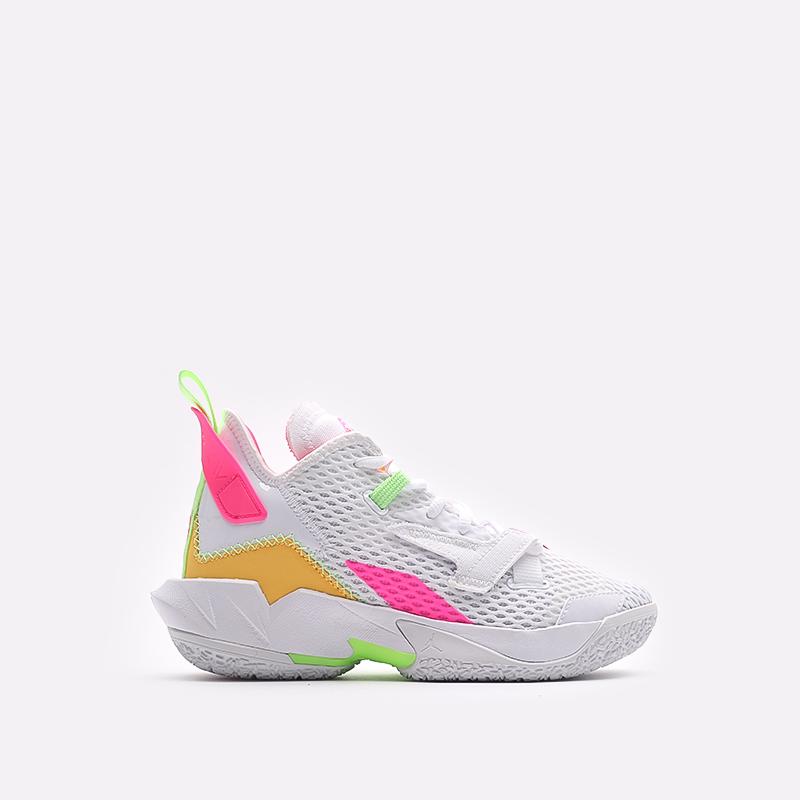 женские белые  кроссовки jordan why not zero.4 (gs) CQ9430-102 - цена, описание, фото 1