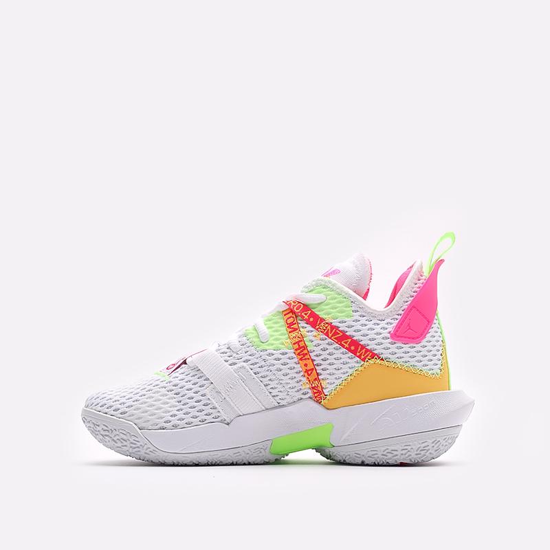 женские белые  кроссовки jordan why not zero.4 (gs) CQ9430-102 - цена, описание, фото 2