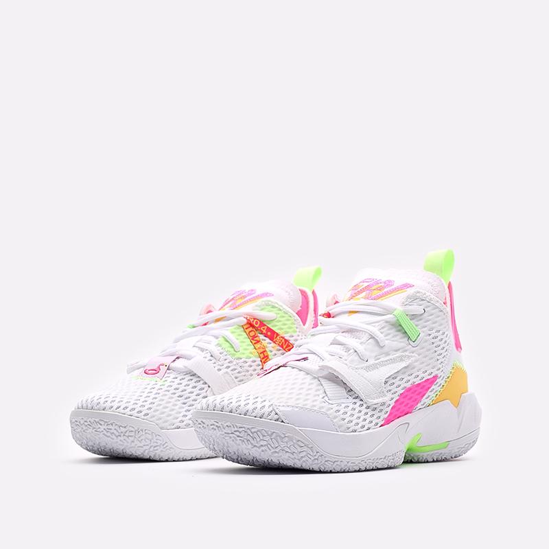 женские белые  кроссовки jordan why not zero.4 (gs) CQ9430-102 - цена, описание, фото 4
