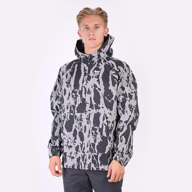 мужскую серую  куртку nike repel camo golf anorak CU9415-003 - цена, описание, фото 1