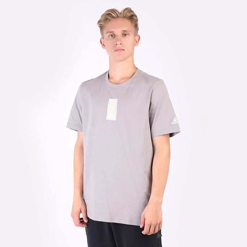 мужскую серую  футболка adidas dame seasonal GK3599 - цена, описание, фото 1
