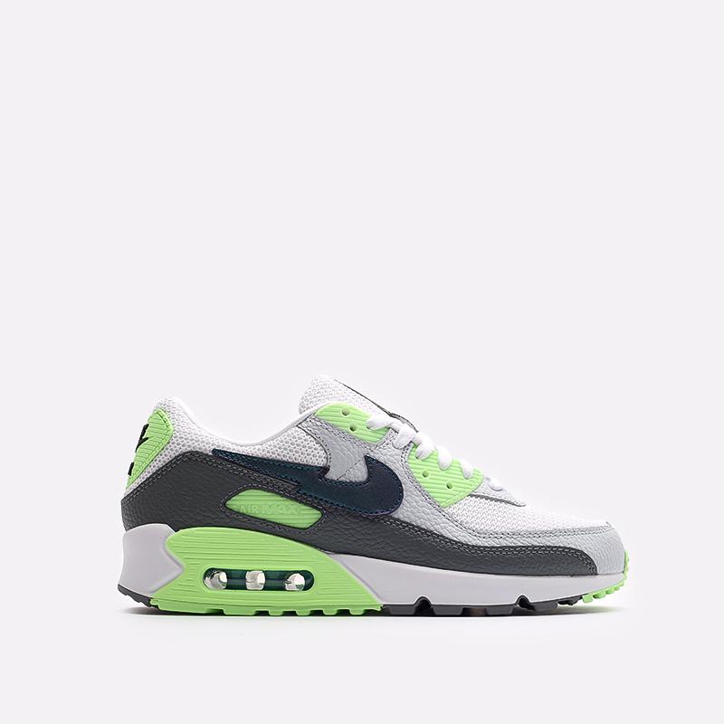 мужские белые, серые, зелёные  кроссовки nike air max 90 DJ6897-100 - цена, описание, фото 1