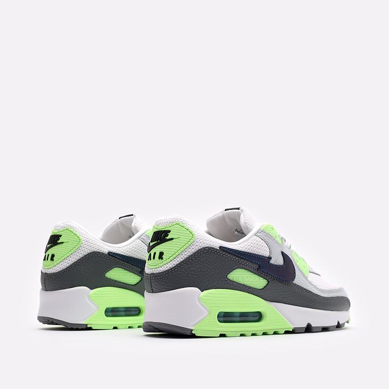 мужские белые, серые, зелёные  кроссовки nike air max 90 DJ6897-100 - цена, описание, фото 3
