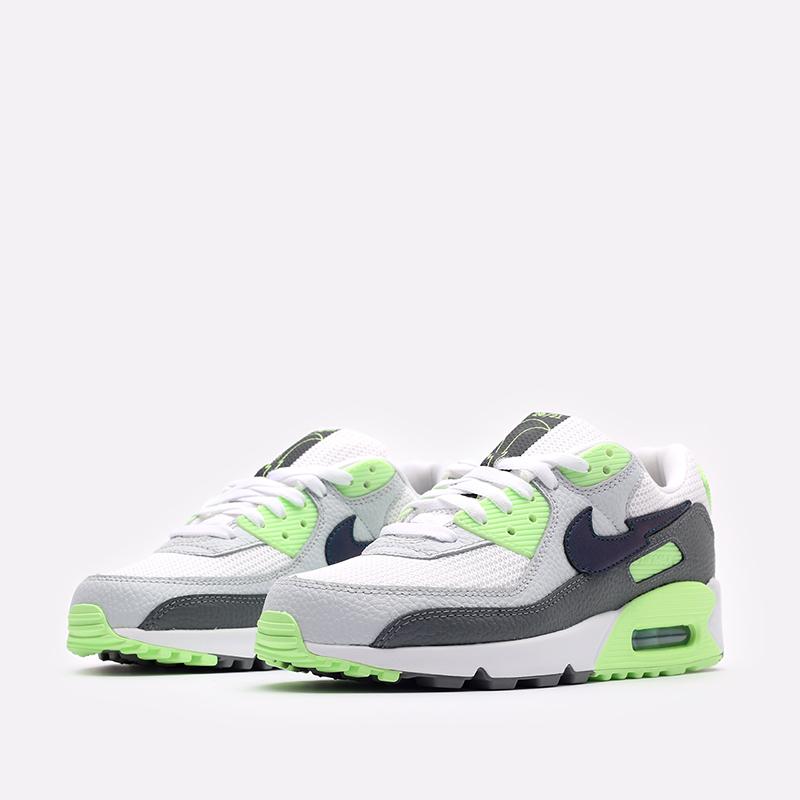 мужские белые, серые, зелёные  кроссовки nike air max 90 DJ6897-100 - цена, описание, фото 4