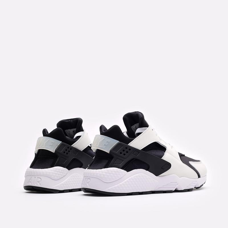 мужские чёрные, белые  кроссовки nike air huarache DD1068-001 - цена, описание, фото 3