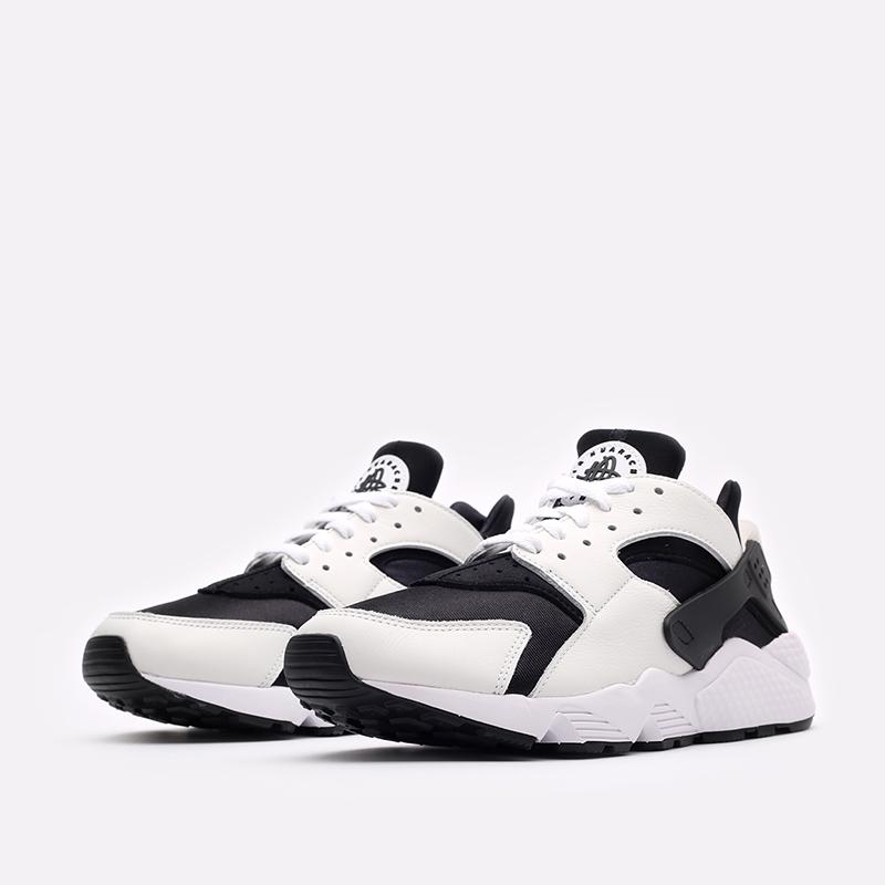 мужские чёрные, белые  кроссовки nike air huarache DD1068-001 - цена, описание, фото 4