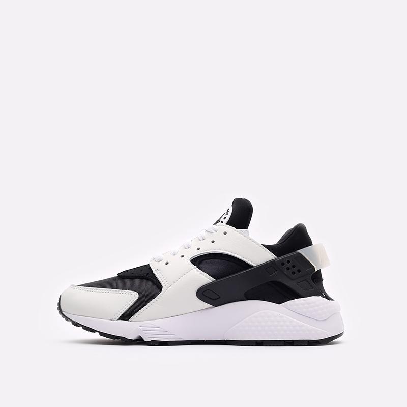 мужские чёрные, белые  кроссовки nike air huarache DD1068-001 - цена, описание, фото 2