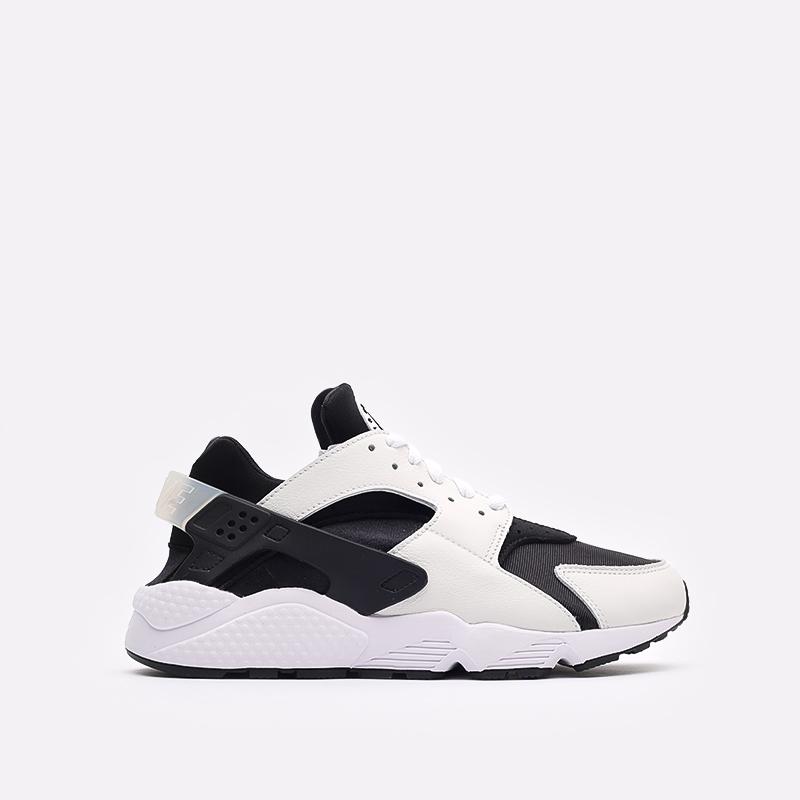 мужские чёрные, белые  кроссовки nike air huarache DD1068-001 - цена, описание, фото 1