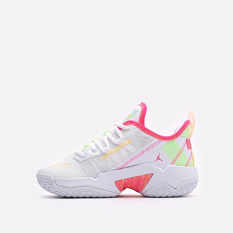 женские белые баскетбольные кроссовки Jordan One Take II (GS) CZ0840-163 - цена, описание, фото 2
