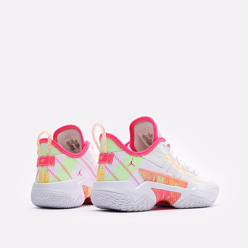 женские белые баскетбольные кроссовки Jordan One Take II (GS) CZ0840-163 - цена, описание, фото 3